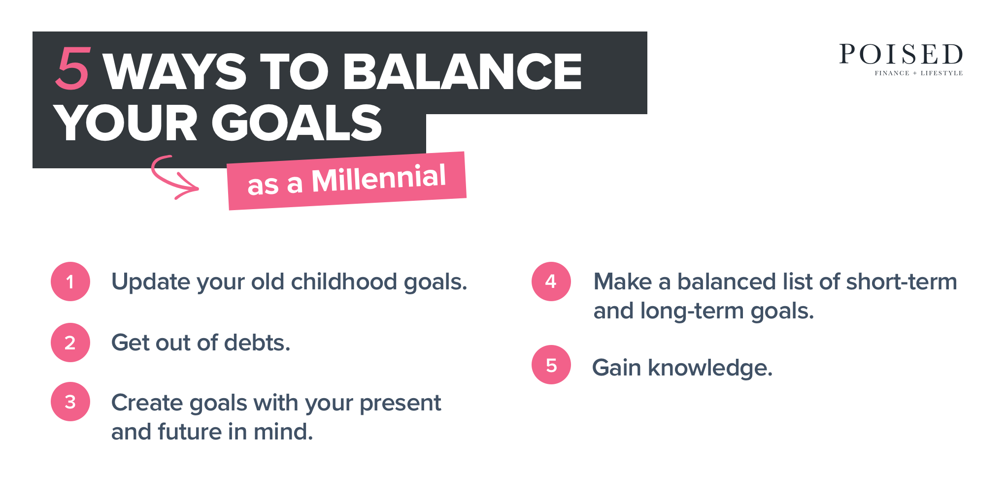 5 ways to balance your goals as a millennial